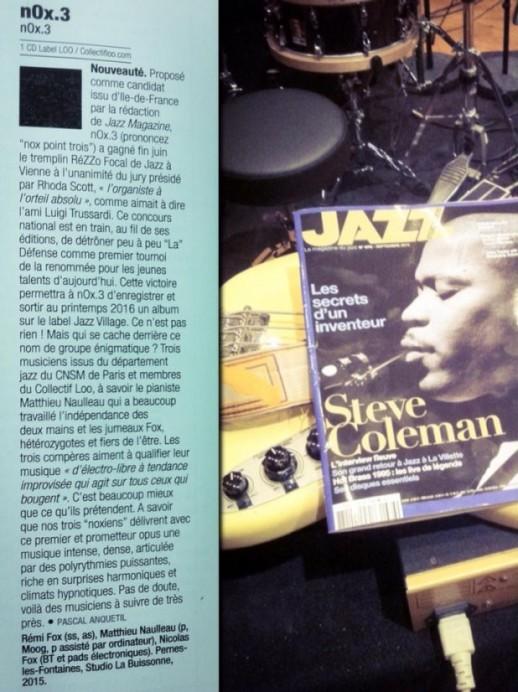 nOx.3 chroniqué dans JazzMagazine !